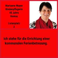 Als Kreis- und Stadträtin hat Marianne bereits viel Erfahrung in der Kommunalpolitik. Sorgt mit 3 Stimmen dafür, dass Sie sich weiter für die Anliegen der Kinden, Jugendlichen und Familien einsetzen kann.